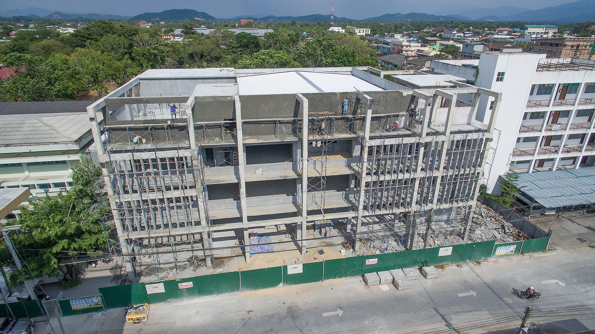 โครงการก่อสร้างอาคาร เรียนรวมวิทยาลัยพละศึกษา จังหวัดยะลา