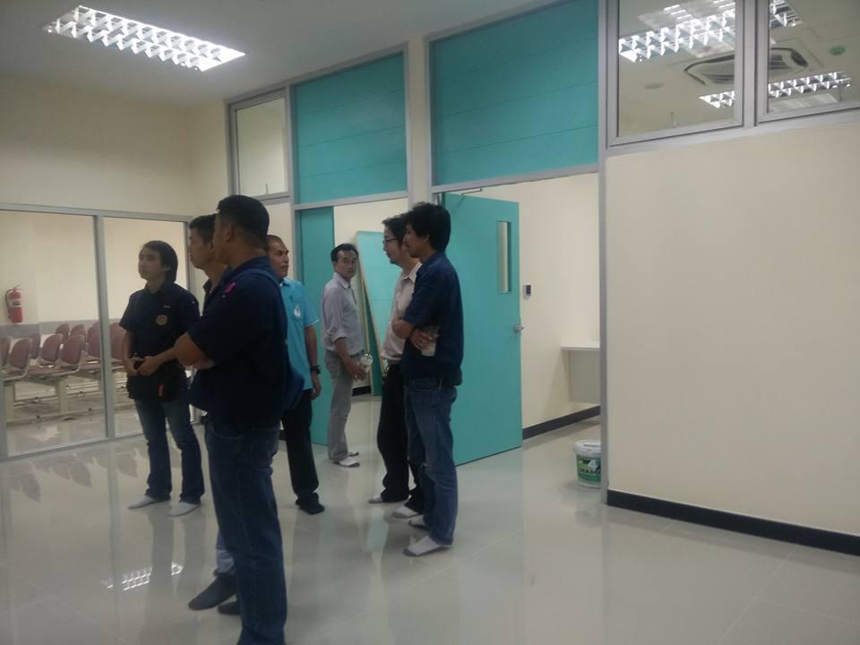 คณะกรรมการจากโรงพยาบาลนครพิงค์อ.แม่ริมจ.เชียงใหมลงตรวจสอบหน้างานก่อนส่งมอบพื้นที่